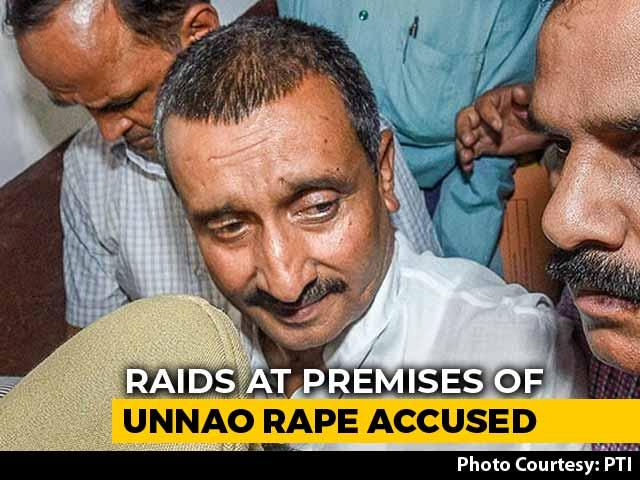 Video : Unnao Rape Accused Kuldeep Sengar's Premises Raided By CBI