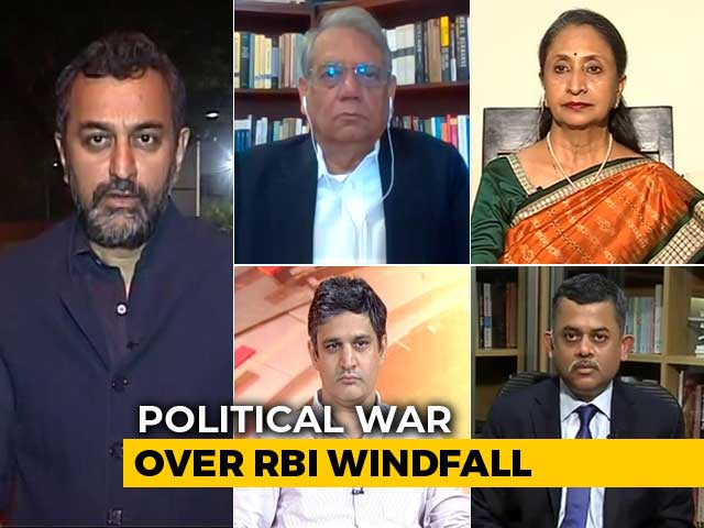 Video : RBI's Rs 1.76 Lakh Crore Windfall To Government: Raid Or Rescue?