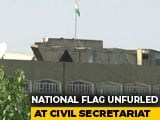 Video : Jammu And Kashmir Flag Gone From Srinagar's Civil Secretariat
