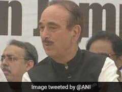 """Living In Fools' Paradise"": Ghulam Nabi Azad At J&K Protest In Delhi"