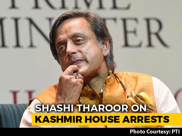 "Video : ""You Are Not Alone"": Shashi Tharoor On Kashmir House Arrests"