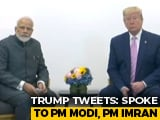 "Video : ""Spoke To My Two Good Friends"": Trump After Call With PM Modi, Imran Khan"