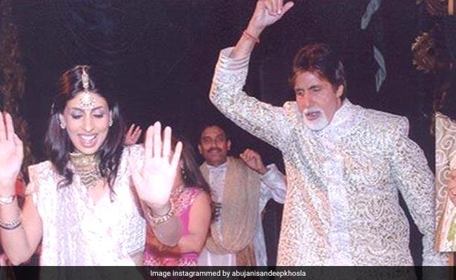 Oh, Nothing. Just Amitabh Bachchan And Shweta Dancing At Aishwarya And Abhishek's Wedding