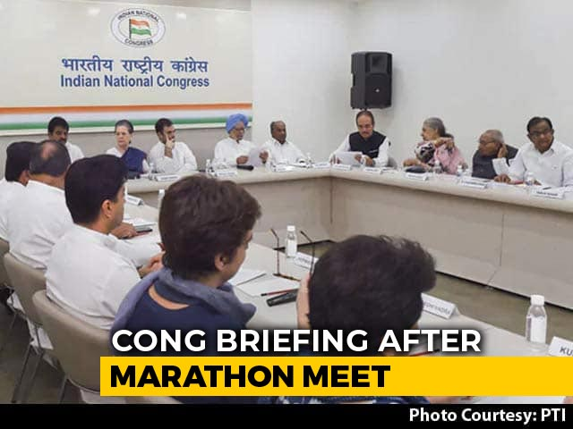 Video : Congress Top Body Meeting To Pick Chief Interrupted Over J&K
