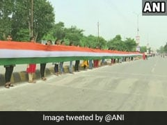 """Human Chain"" Unfurls 15-Km-Long Tricolour In Chattisgarh, Enters Record"