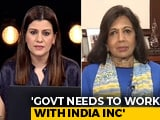 Video : Indian Government Needs To Work With India Inc: Kiran Mazumdar Shaw