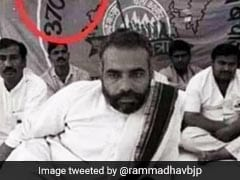 "Ram Madhav Tweets PM's Old Photo, Says ""Promise Fulfilled"" On Article 370"
