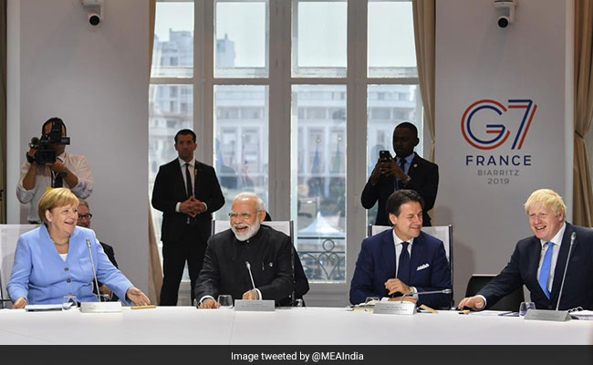 Image result for G7 SUMMIT PM MODI NDTV