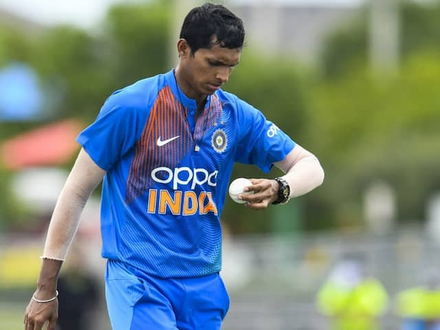 IND vs WI: ICC warns to Navdeep Saini for Code of Conduct violations