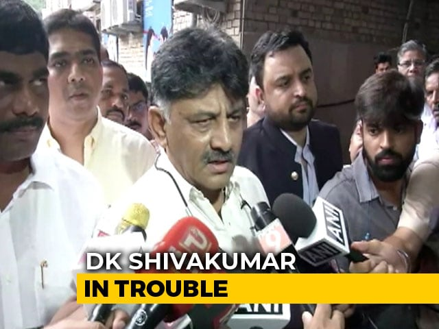 Video : Congress's DK Shivakumar Appears Before Probe Agency For Second Day