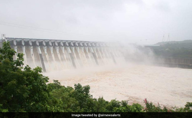 26 Gates Of Sardar Sarovar Dam On Narmada River Opened