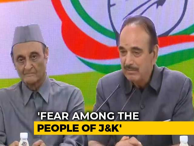 Video : Government Of India Spreading Fear On Kashmir, Says Congress