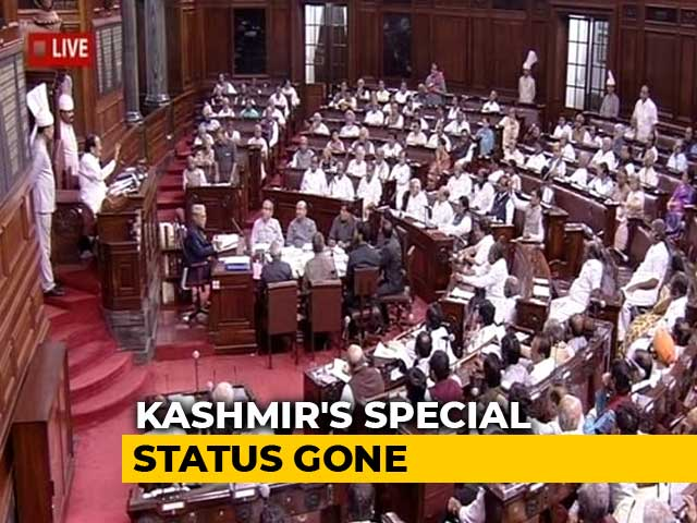 Video : Bill To Bifurcate Jammu And Kashmir Cleared By Rajya Sabha