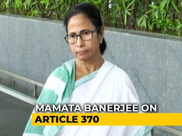 "Video : Mehbooba Mufti, Omar Abdullah Not ""Terrorists"", Says Mamata Banerjee"