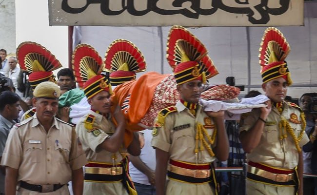 Sushma Swaraj Cremated With State Honours: Highlights