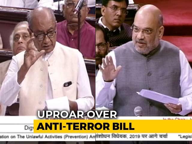 "Video : ""Look At Your Past"": Amit Shah, Digvijaya Singh Spar In Parliament"
