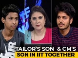 Video : Tailor's Son And Delhi Chief Minister's Son, Both IIT Freshers, On Future Plans