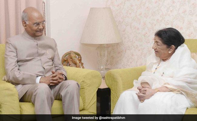 President Kovind Meets Singer Lata Mangeshkar, Wishes Her Good Health