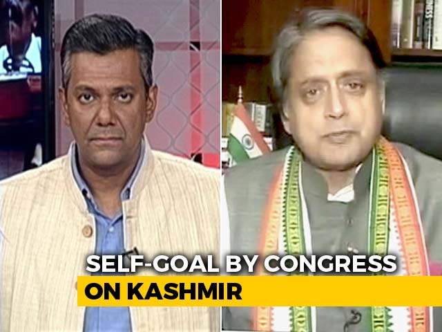 Video : Shashi Tharoor On A Divided Congress Over Centre's Kashmir Move
