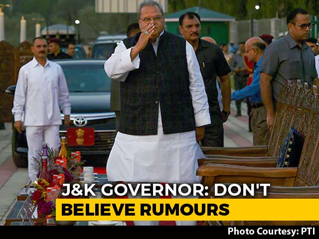 """Video : """"Maintain Calm, Don't Believe Rumours"""": Governor To Kashmir Politicians"""