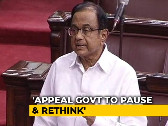 "Video : ""Black Day In Constitutional History"": P Chidambaram On Article 370 Scrapping"