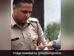 UP Cops Rescue Abandoned Baby From Drain
