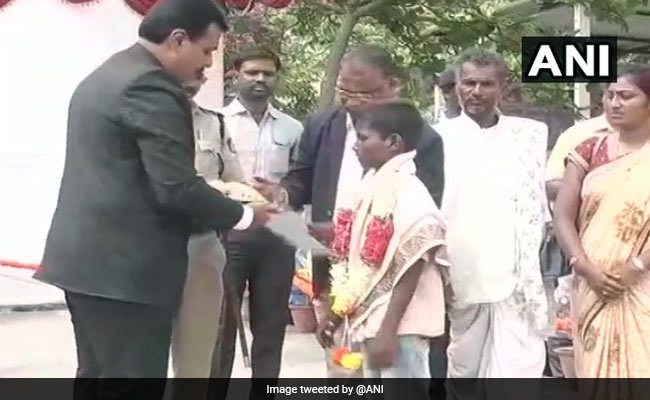 Boy, 12, Guided Ambulance Out Of Flooded Bridge In Karnataka, Felicitated