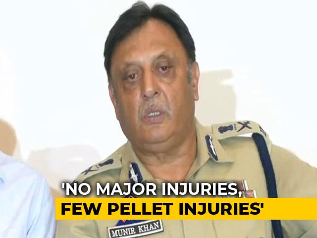 "Video : ""Few Pellet Injuries"" During Localised Incidents, Says Top Cop In Kashmir"