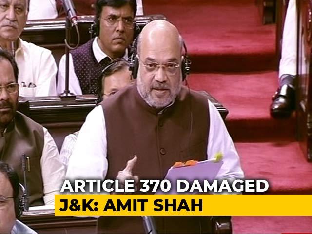 Video : Article 370 Didn't Allow Democracy In J&K: Amit Shah's Speech