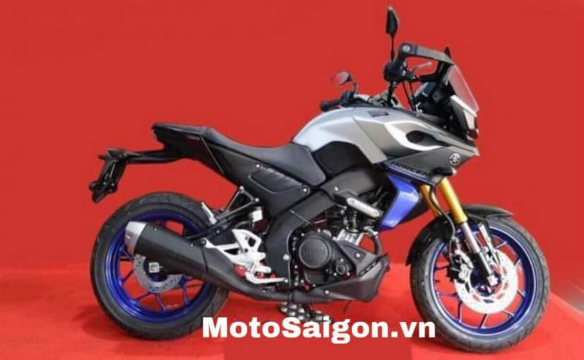 A spy shot clicked in Vietnam shows a mini Yamaha Tracer, possibly with a 125 cc or 150 cc engine