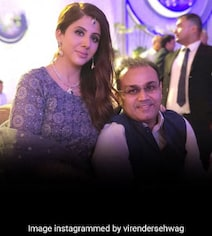 In Virender Sehwag's Pic With Wife, His Caption Takes The Cake