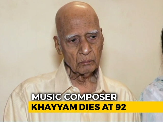 Video : Legendary Music Composer Khayyam Dies At 92; PM Tweets Condolence