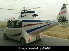 """Childhood Dream"": Man Modifies Tata Nano Into ""Helicopter Car"" In Bihar"