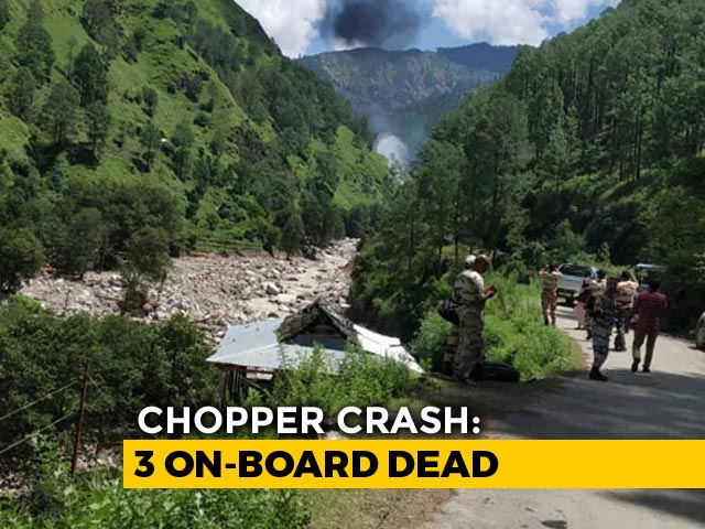 Video : 3 Dead As Helicopter For Flood Relief Hits Cable, Crashes In Uttarakhand