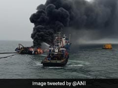 One Dead As Sailors Jump From Burning Ship Near Andhra Coast