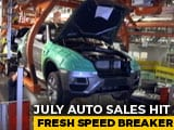 Video : July Auto Sales Hit Fresh Speed Breaker
