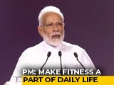 "Video : ""No Elevator To Success, Have To Take Stairs"": PM At Fit India Movement"