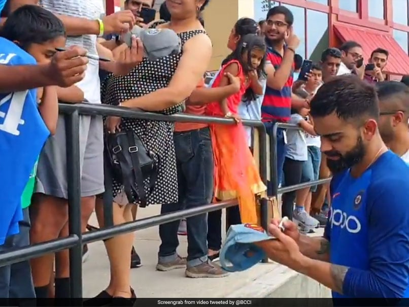 Watch: Virat Kohli Charms Fans With Autographs, Selfies Ahead Of 1st T20I vs West Indies