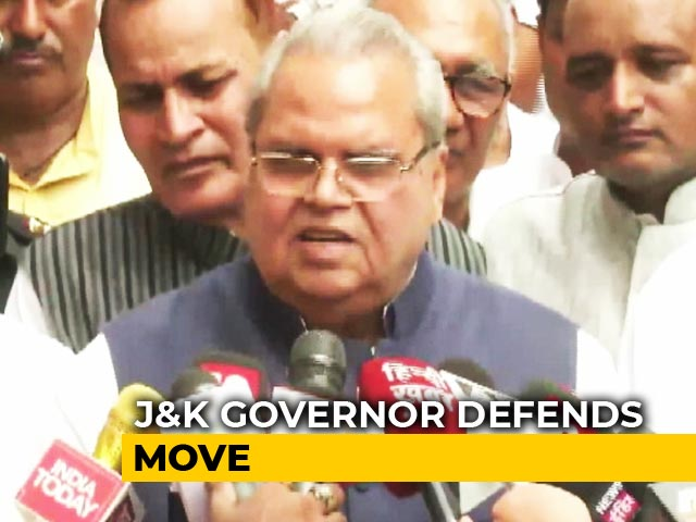 """Video : """"If There's No Phone For 10 Days, So Be It"""": J&K Governor Defends Move"""