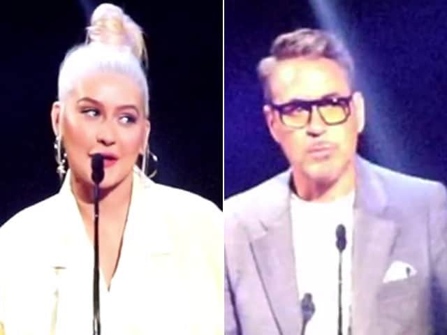 Robert Downey Jr & Christina Aguilera Honoured As Disney Legends