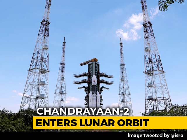 "Video : Chandrayaan 2 Enters Moon's Orbit After ""Heart-Stopping"" ISRO Move"