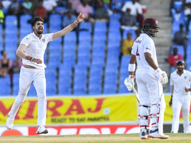 Ishant Sharma has five wickets to his name and West Indies are 189/8, trailing India by 108 runs.