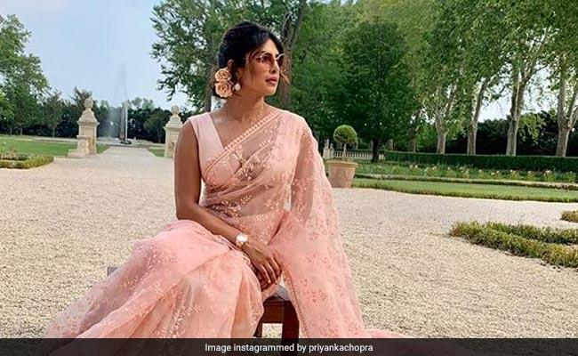 Priyanka Chopra Is In A 'Saree Not Sorry' Mood. Once A Desi Girl, Always A Desi Girl