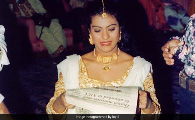 Kajol's LOL Throwback Pic Shows What Happens When She Can't Find A Book