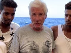 Richard Gere Delivers Food To Stranded Migrants Ship in Mediterranean