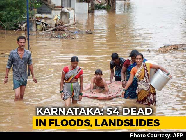 Video : 54 Dead, Lakhs Moved As Reduced Rain Predicted In Flood-Hit Karnataka