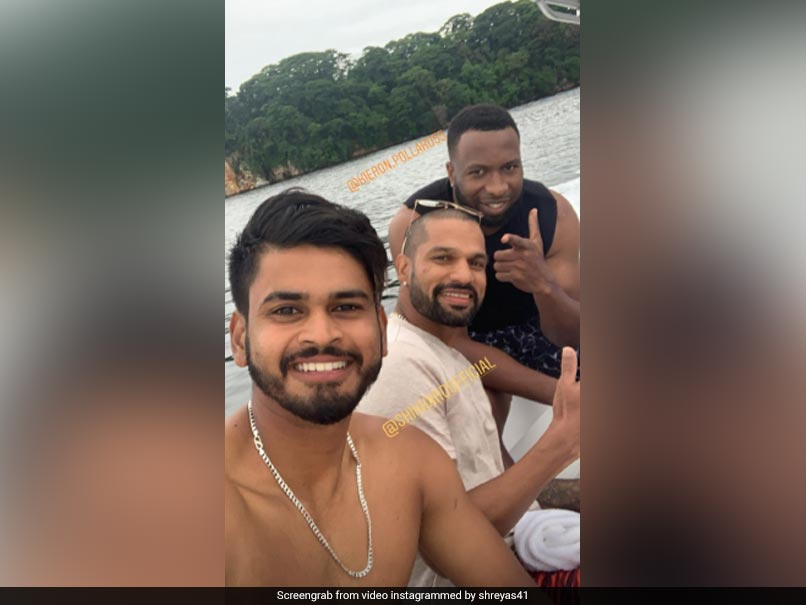 "Watch: Rohit Sharma, Shikhar Dhawan Enjoy Downtime With Windies Stars In ""Open Water"""