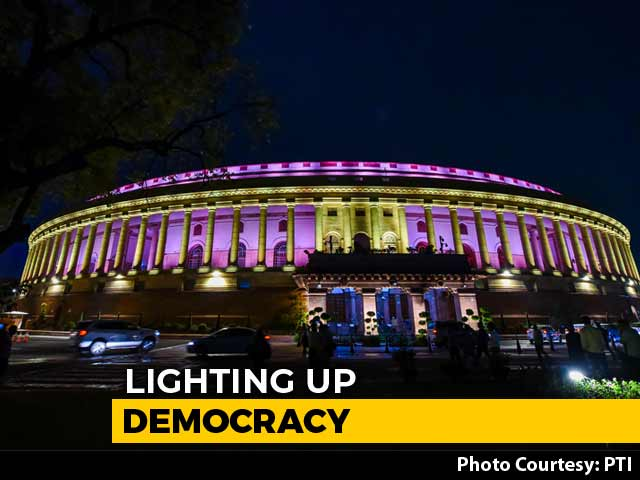 Video : Parliament Gets New Lighting System To Shine Bright Every Night