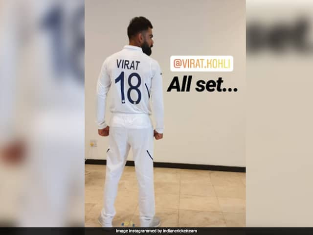 Skipper Virat Kohli and Rishabh Pant Pose in New test Jerseys With Names and Numbers