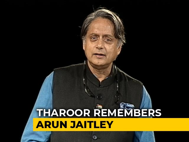 "Video : ""We First Met When..."": Shashi Tharoor Remembers Arun Jaitley"